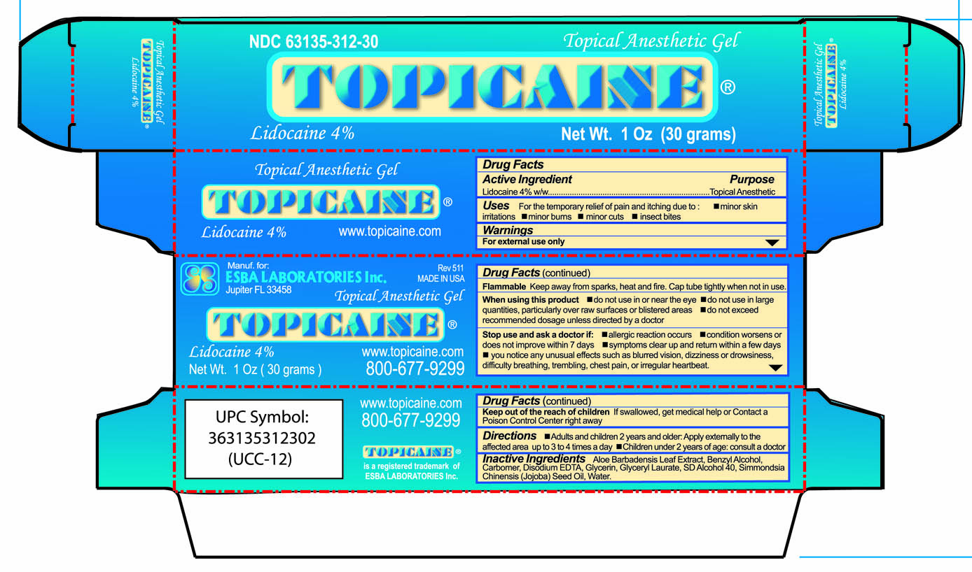 Box for Topicaine 4% 30 gram tubes