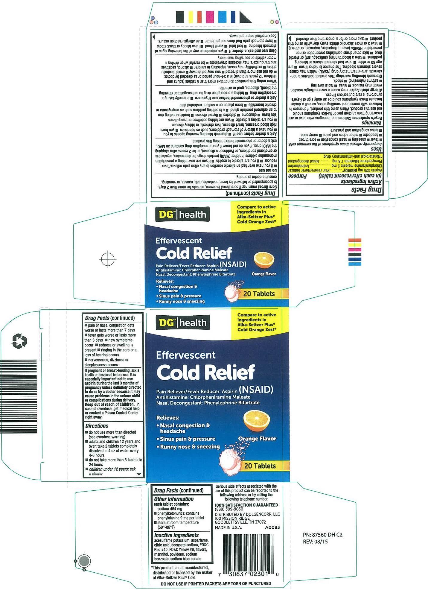 DG Health Orange Cold 20c