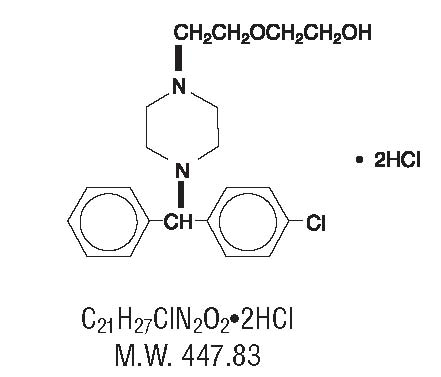 Hydroxyzine Chemical Structure