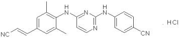 rilpivirine hydrochloride chemical structure
