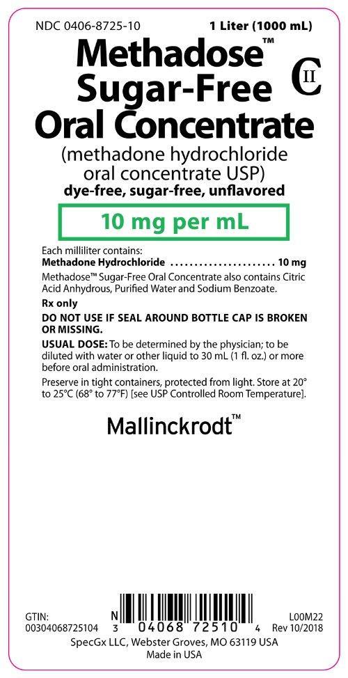 Methodose™ Sugar-Free Oral Concentrate 1 Liter Bottle Label