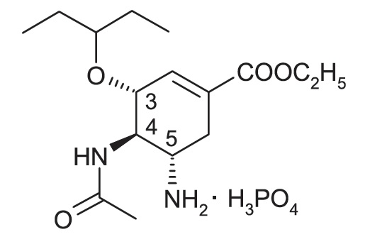 oseltamivir-phosphate-structure