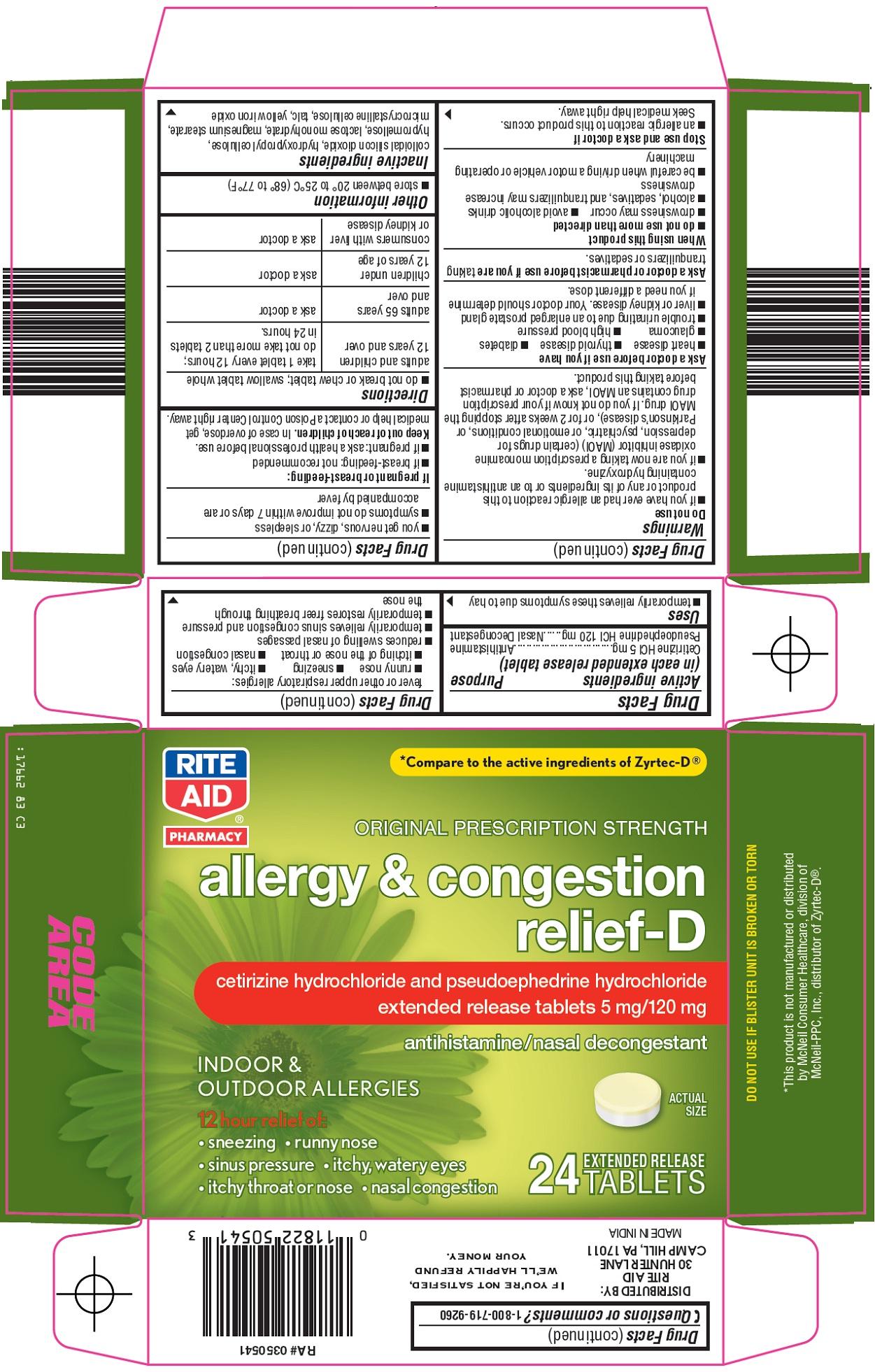 Allergy & Congestion Relief-D Carton Image