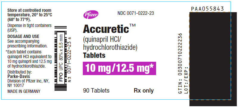 PRINCIPAL DISPLAY PANEL - 10 mg/12.5 mg Tablet Bottle Label