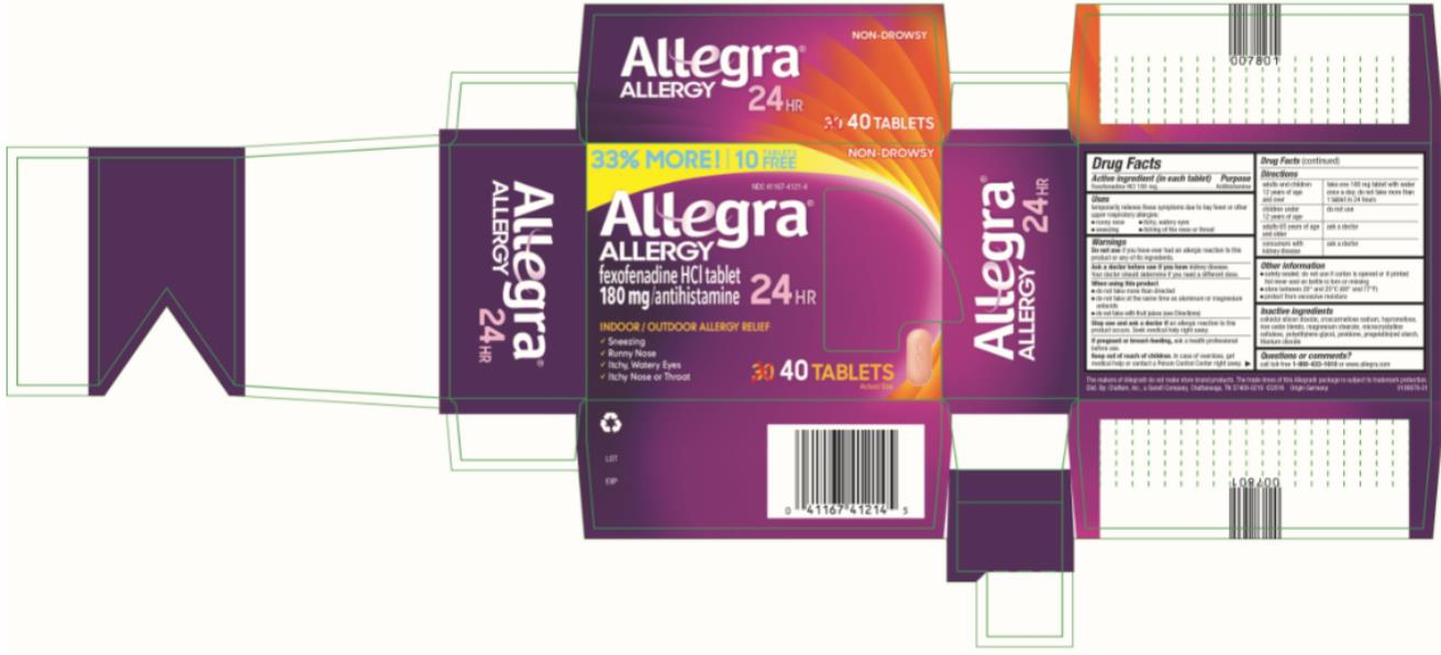 PRINCIPAL DISPLAY PANEL Allegra ALLERGY 180 mg/ antihistamine 24 HR 40 TABLETS