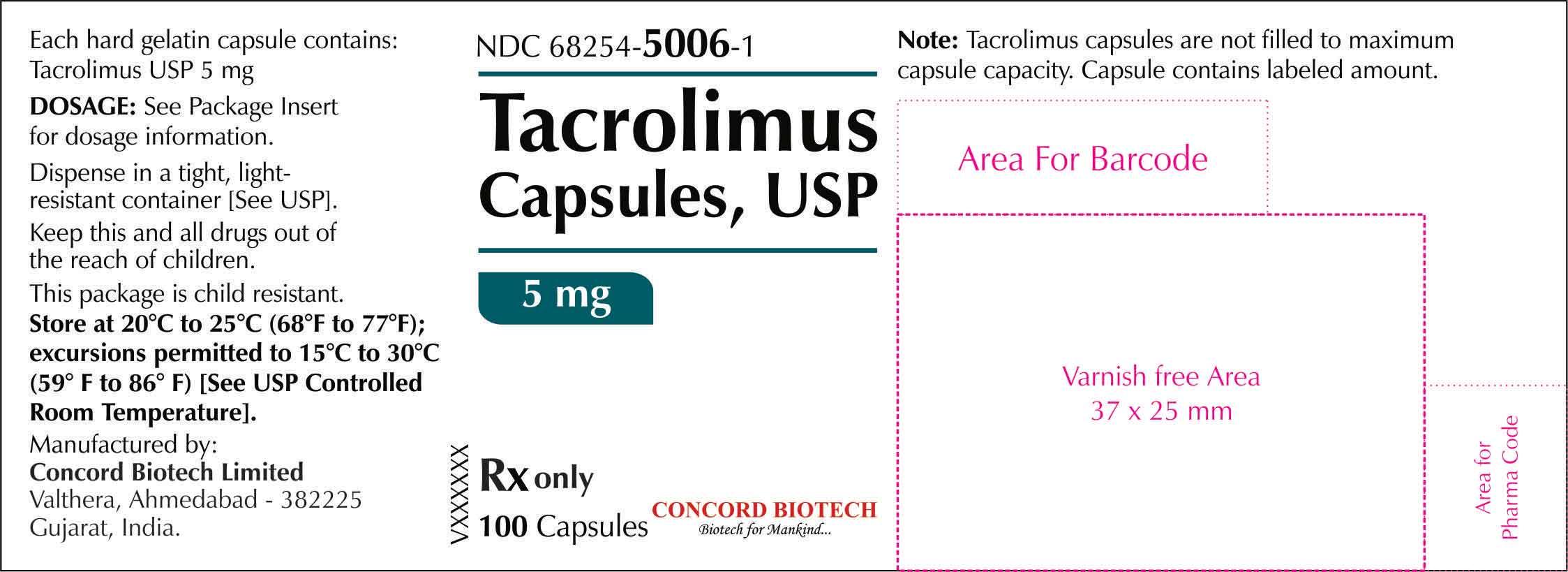 5 mg- 100s