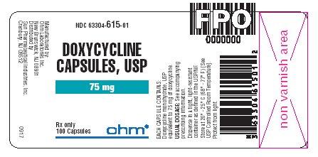 75mg bottle label