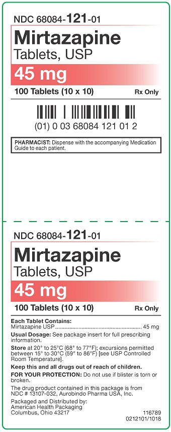45 mg Mirtazapine Tablets Carton