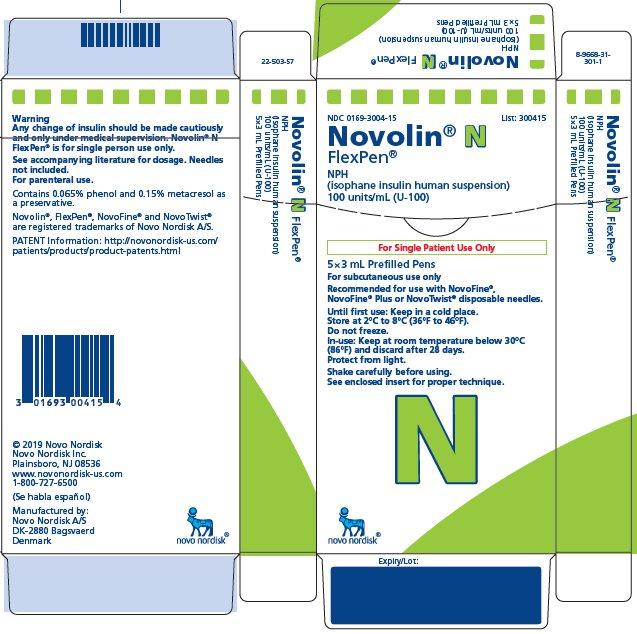 Novolin N FlexPen carton
