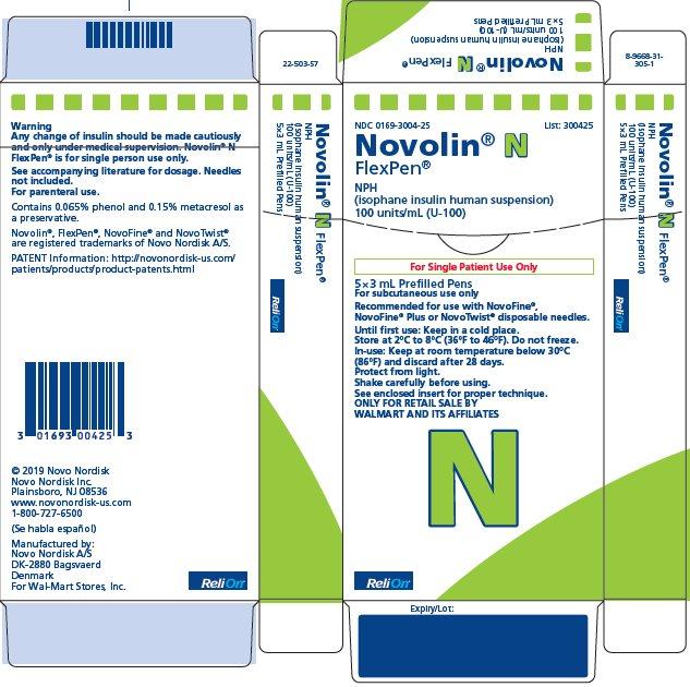 Novolin N FlexPen carton - ReliOn