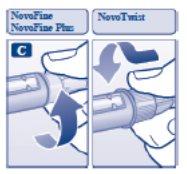 Screw the needle onto your Novolin N FlexPen.