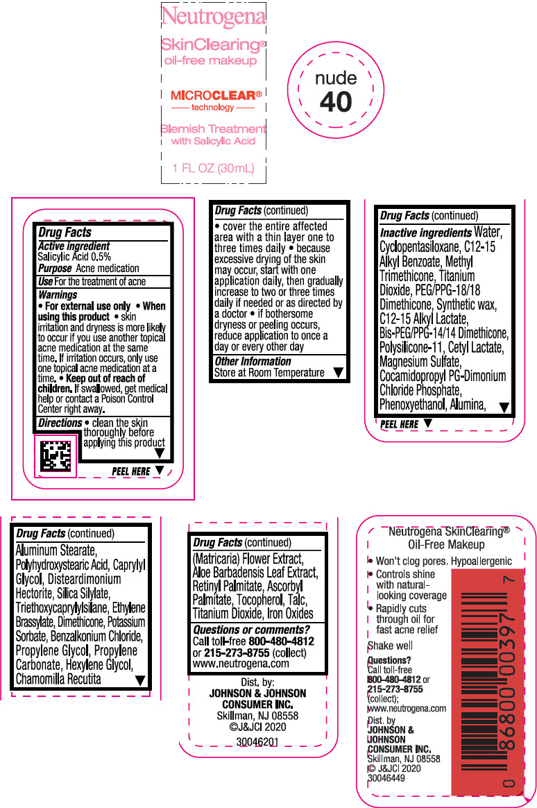 Principal Display Panel - 30 mL Bottle Label - Nude 40