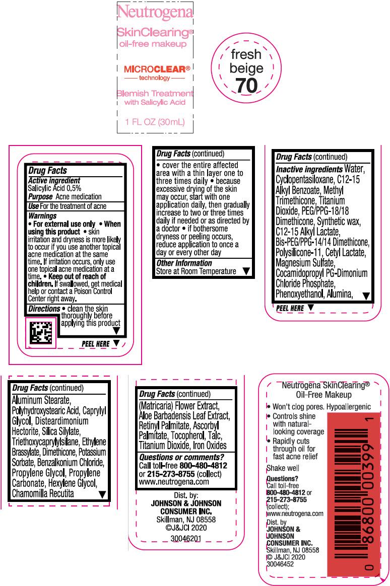 Principal Display Panel - 30 mL Bottle Label - Fresh Beige 70