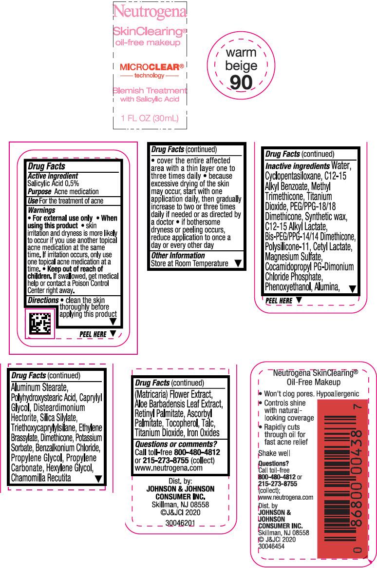 Principal Display Panel - 30 mL Bottle Label - Warm Beige 90