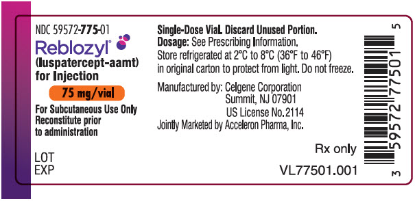 PRINCIPAL DISPLAY PANEL - 75 mg Vial Label
