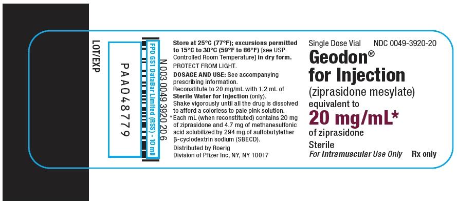 Principal Display Panel - 20 mg/mL Single Dose Vial Label