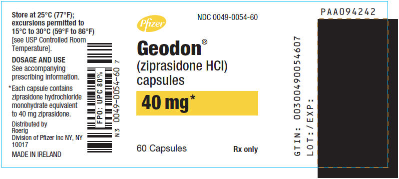 Principal Display Panel - 40 mg Capsule Bottle Label - 0054