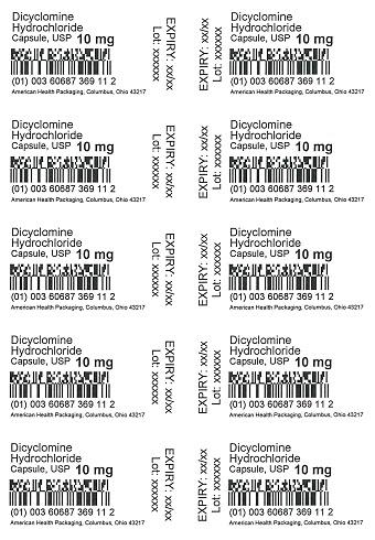 10 mg Dicyclomine HCI Capsule Blister