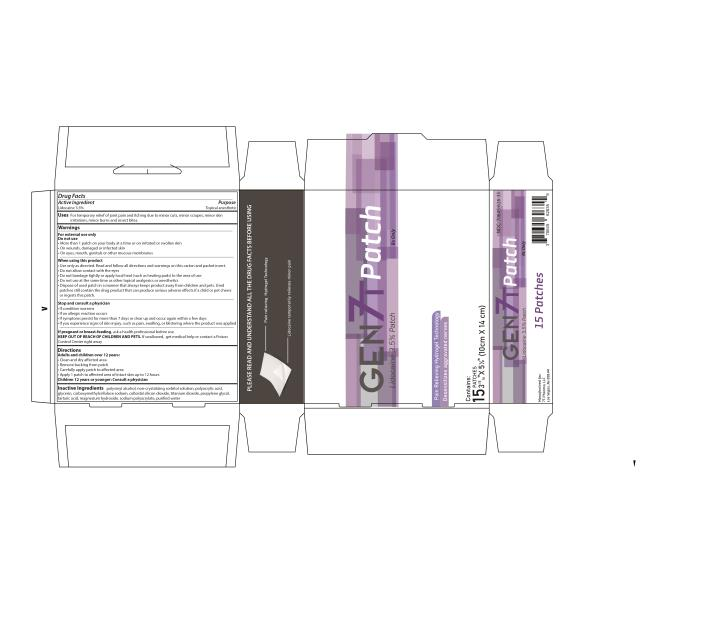 PRINCIPAL DISPLAY PANEL GEN 7T Patch Lidocaine 3.5% Patch Rx Only Contains: 15 PATCHES