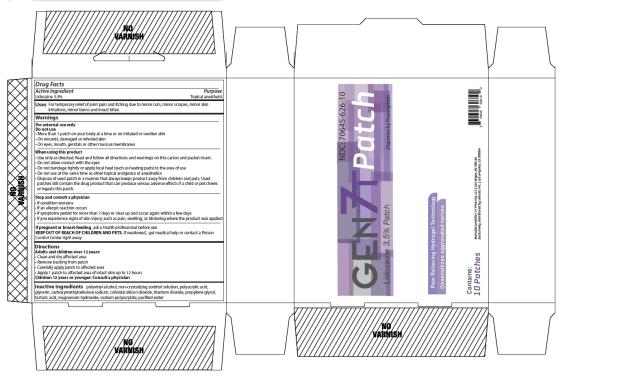 PRINCIPAL DISPLAY PANEL GEN 7T Patch Lidocaine 3.5% Patch Dispense by Prescription Contains: 10 PATCHES