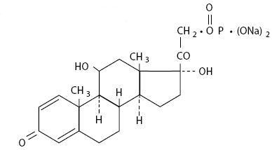 Prednisolone Sodium Phosphate (structural formula)