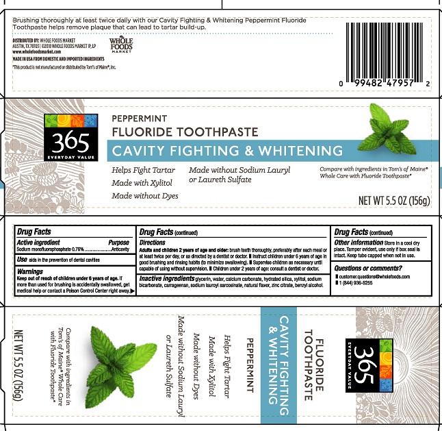 WF Fluoride Toothpaste 2821002R1