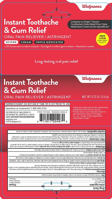 Walgreens Toothache Gum Cream 2821379R1