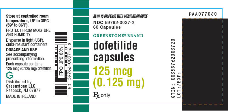 PRINCIPAL DISPLAY PANEL - 125 mcg Capsule Bottle Label