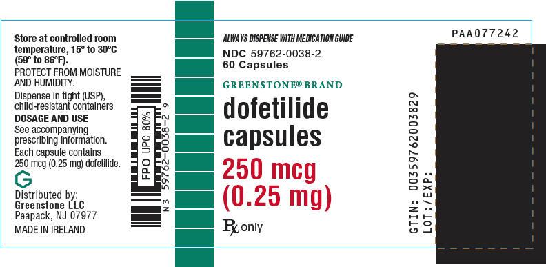 PRINCIPAL DISPLAY PANEL - 250 mcg Capsule Bottle Label