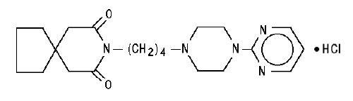 Buspirone structural formula