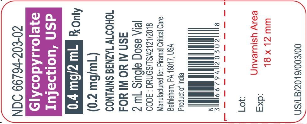 Glyco 2 ml label