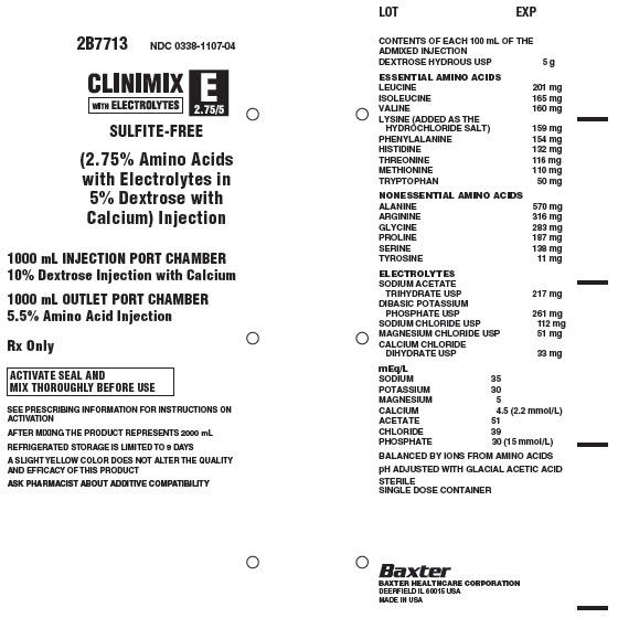 Clinimix E Representative Container Label 0338-1107