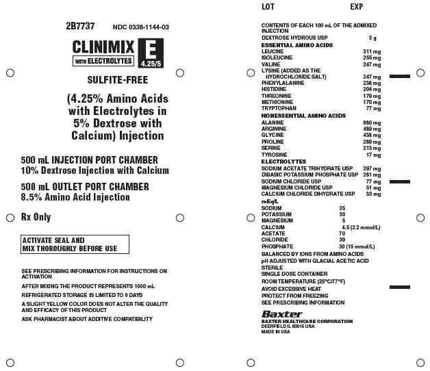 Clinimix E Representative Container Label 0338-1144
