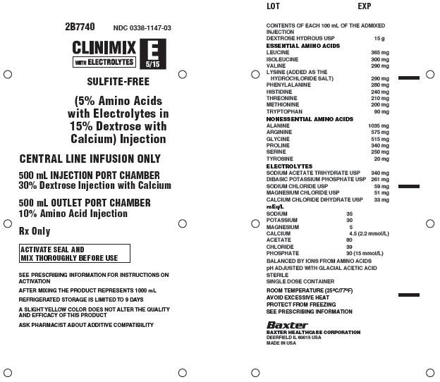 Clinimix E Representative Container Label 0338-1147