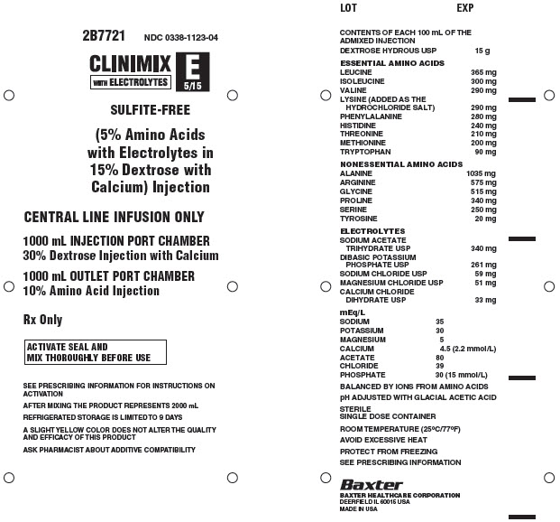 Clinimix E Representative Container Label 0338-1123