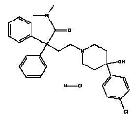 Structural formula for loperaminde hydrochloride