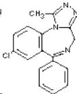 Alprazolam Chemical Structure