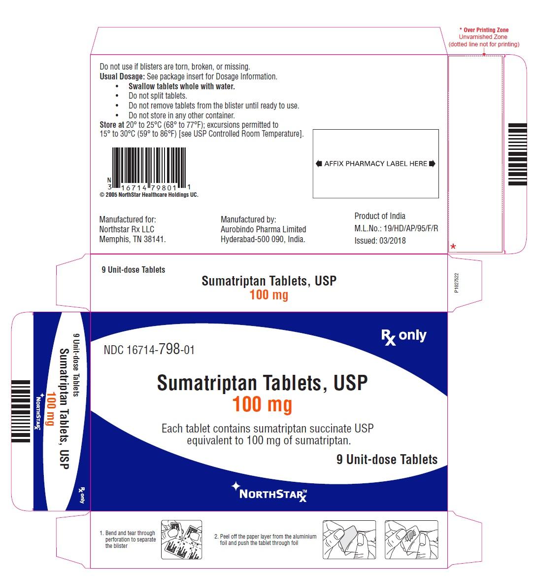 PACKAGE LABEL-PRINCIPAL DISPLAY PANEL - 100 mg Blister Carton (9 Unit-dose)