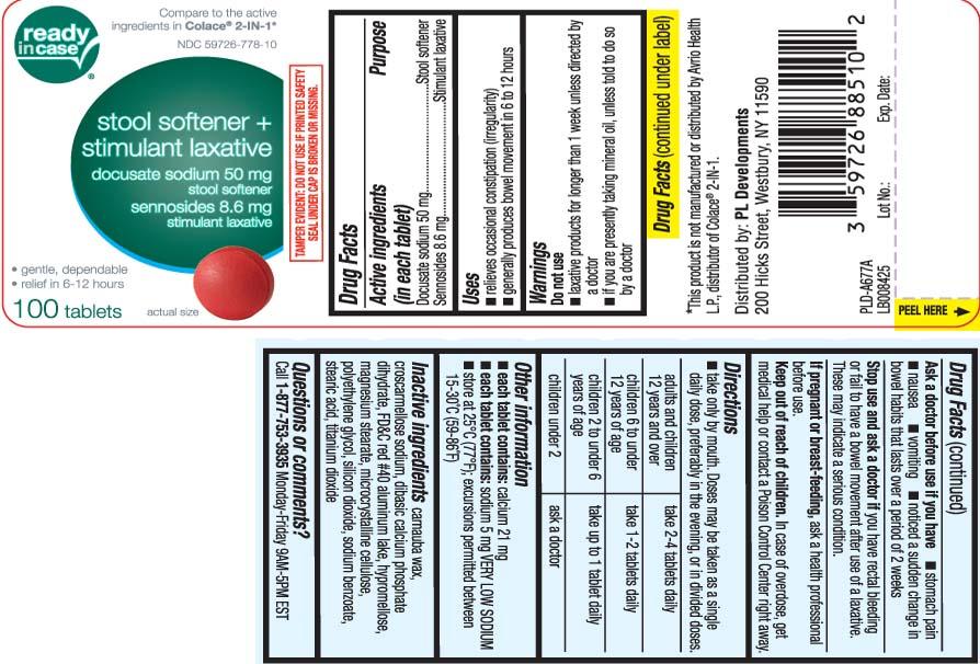 Docusate Sodium 50 mg Sennosides 8.6 mg