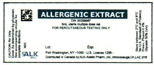 PRINCIPAL DISPLAY PANEL ALLERGENIC EXTRACT DIN 00299987 5mL sterile multiple dose vial FOR PERCUTANEOUS TESTING ONLY