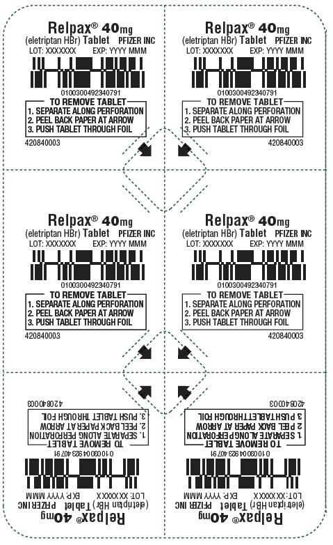 PRINCIPAL DISPLAY PANEL - 40 mg Tablet Blister Pack