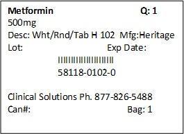 Metformin 500mg Packet