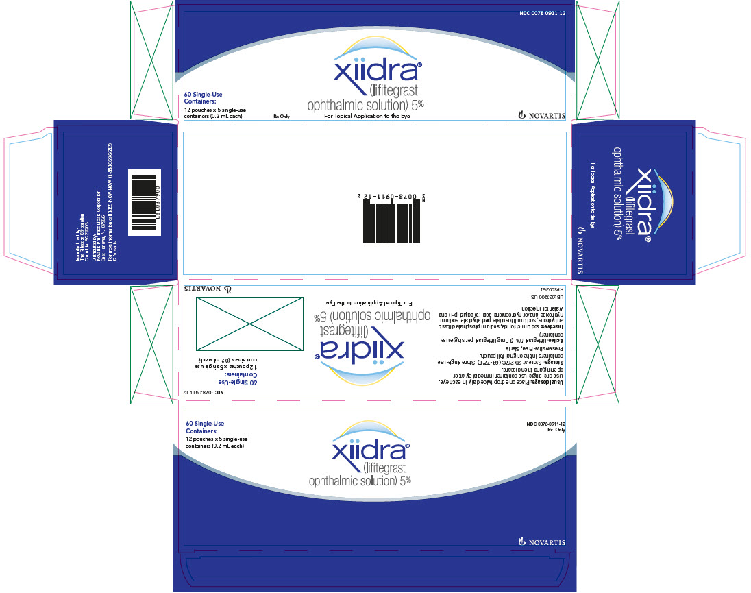 Principal Display Panel NDC: <a href=/NDC/0078-0911-12>0078-0911-12</a> xiidra®