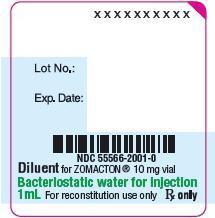 Principal Display Panel - 10 mg Diluent Vial Label