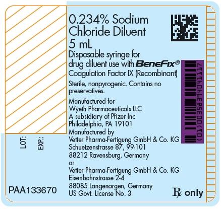 Principal Display Panel - 5 mL Syringe Label - Kit 58394-635