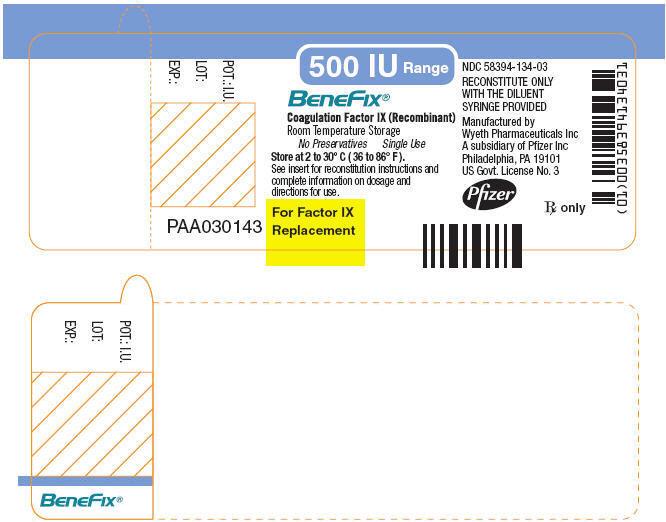 PRINCIPAL DISPLAY PANEL - 500 IU SINGLE USE VIAL LABEL