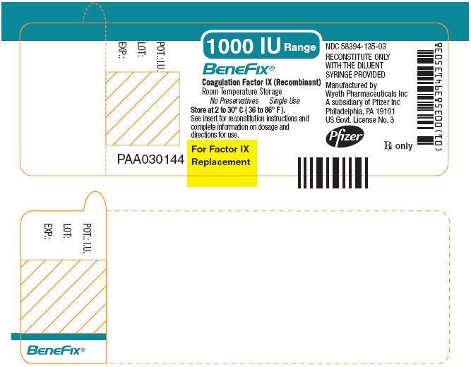 PRINCIPAL DISPLAY PANEL - 1000 IU SINGLE USE VIAL LABEL