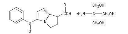 ketorolac tromethamine structural formula