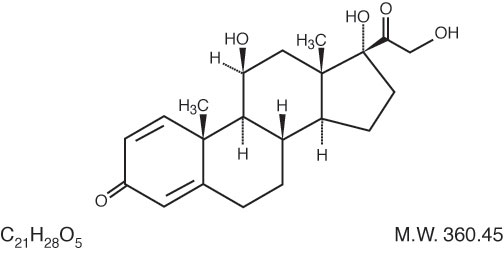 This is an image of the structural formula of Prednisolone.
