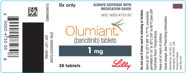 PACKAGE LABEL – OLUMIANT 1 mg 30ct Bottle